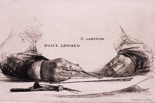 Hands Etching—O Laborum, (1865) by Sir Francis Seymour Haden