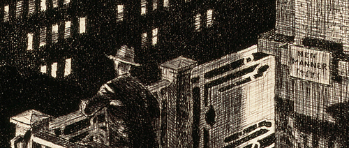 East Side Night, Williamsburg Bridge, (1928) by Martin Lewis