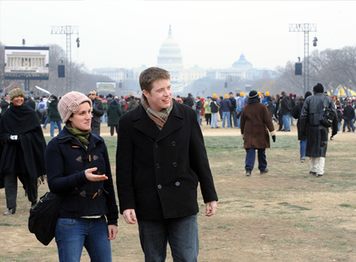 Students Kennedy and Wall at Inauguration